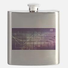 Futuristic Abstrac Flask