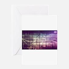 Futuristic Abstrac Greeting Cards
