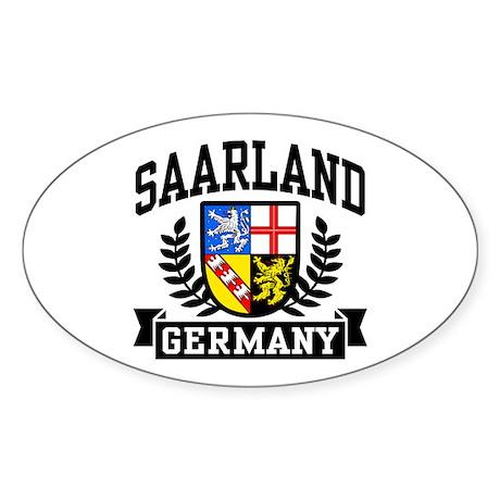 Saarland Germany Sticker (Oval)