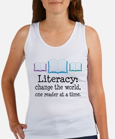 Literacy Reading Quote Women's Tank Top