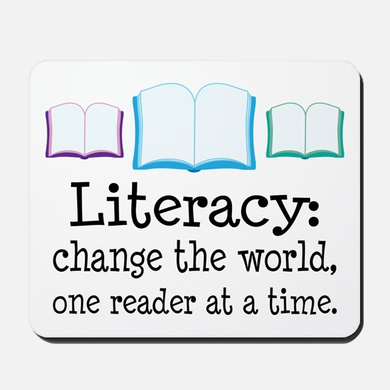 Literacy Reading Quote Mousepad