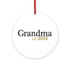 New Grandma Est 2012 Ornament (Round)