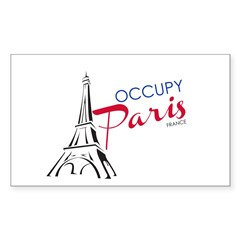 Occupy Paris Sticker (Rectangle)