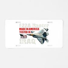 f-22A Raptor Made In America Aluminum License Plat