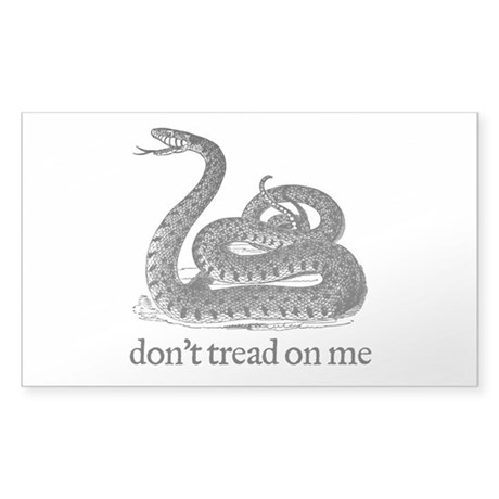 Don't Tread On Me Sticker (Rectangle)