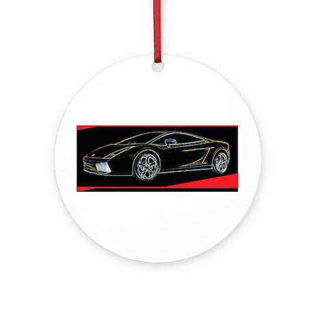 Lamborghini Glow Ornament (Round)