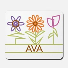 Ava with cute flowers Mousepad