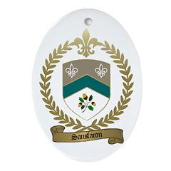 SANSFACON Family Crest Oval Ornament