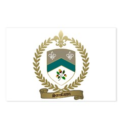 SANSFACON Family Crest Postcards (Package of 8)