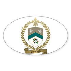 SANSFACON Family Crest Oval Decal