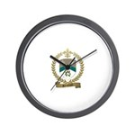 SANSFACON Family Crest Wall Clock