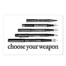 Choose Your Weapon Postcards (Package of 8)
