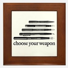 Choose Your Weapon Framed Tile