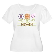 Nevaeh with cute flowers T-Shirt