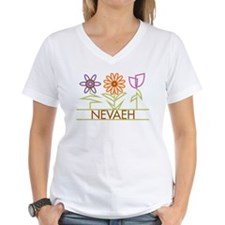 Nevaeh with cute flowers Shirt