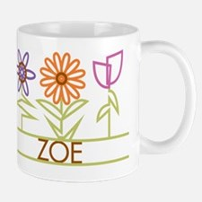 Zoe with cute flowers Mug