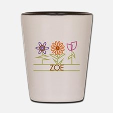 Zoe with cute flowers Shot Glass