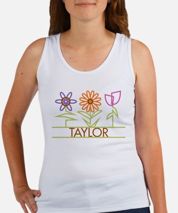 Taylor with cute flowers Women's Tank Top