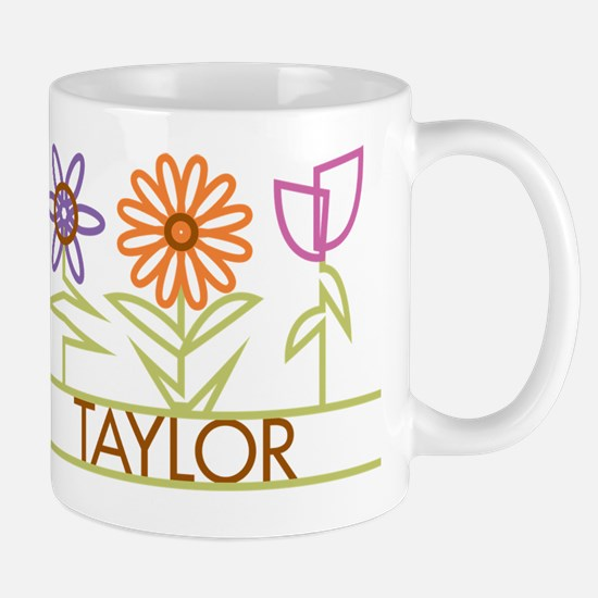 Taylor with cute flowers Mug