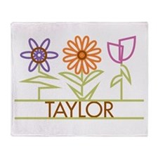 Taylor with cute flowers Throw Blanket