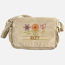 Riley with cute flowers Messenger Bag