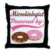 Microbiologist Gift Doughnuts Throw Pillow