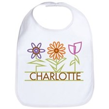 Charlotte with cute flowers Bib