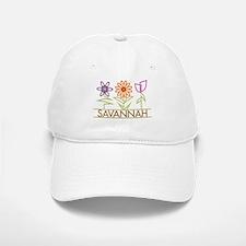 Savannah with cute flowers Baseball Baseball Cap