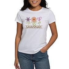 Savannah with cute flowers Tee