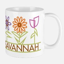 Savannah with cute flowers Mug
