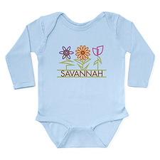 Savannah with cute flowers Baby Suit
