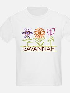 Savannah with cute flowers T-Shirt