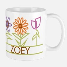 Zoey with cute flowers Mug