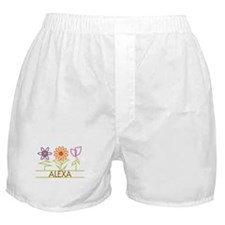 Alexa with cute flowers Boxer Shorts