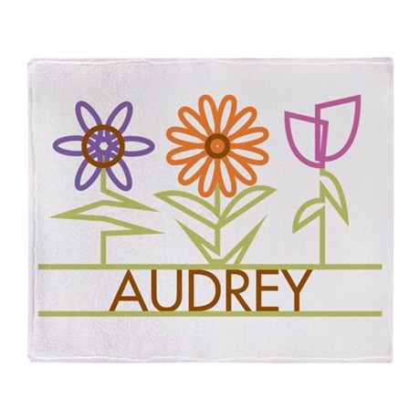 Audrey with cute flowers Throw Blanket
