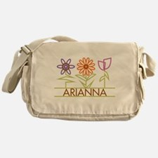 Arianna with cute flowers Messenger Bag