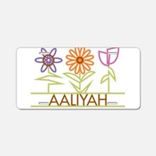 Aaliyah with cute flowers Aluminum License Plate