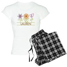 Lauren with cute flowers Pajamas