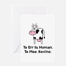 To Moo Bovine Greeting Card