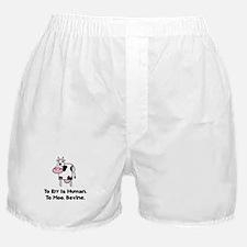 To Moo Bovine Boxer Shorts