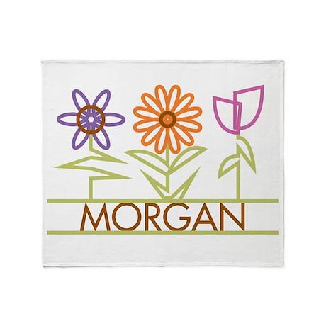 Morgan with cute flowers Throw Blanket