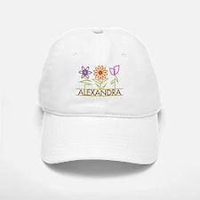 Alexandra with cute flowers Baseball Baseball Cap