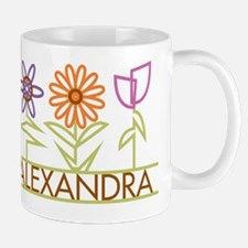 Alexandra with cute flowers Mug