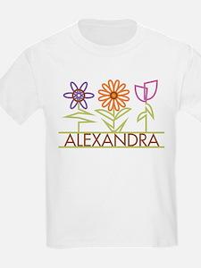 Alexandra with cute flowers T-Shirt