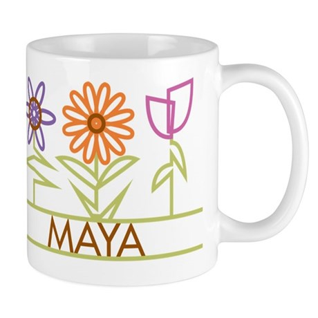Maya with cute flowers Mug