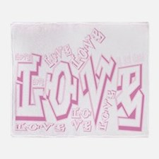Lil Pink Crush Love Throw Blanket