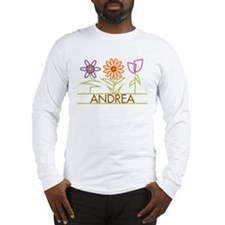 Andrea with cute flowers Long Sleeve T-Shirt