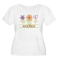 Andrea with cute flowers T-Shirt