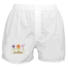 Andrea with cute flowers Boxer Shorts