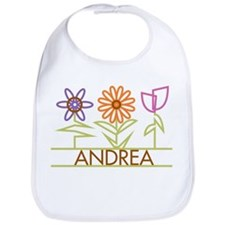 Andrea with cute flowers Bib